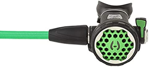 """Hollis 150LX 2nd Stage Green with 40"""" Green Miflex Hose for Scuba Diving"""