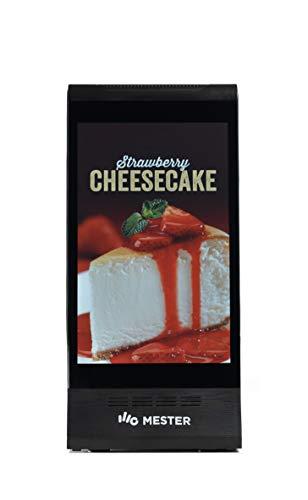 Mester kiosko Android con función táctil, para Venta desatendida con Doble Pantalla de 8' LCD (Negro)
