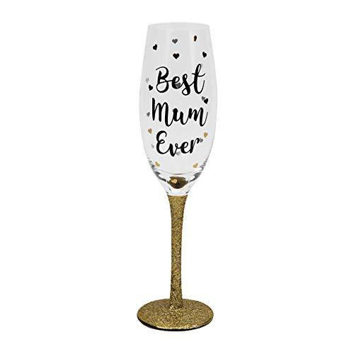 Widdop en Co viert gouden glitter stengel prosecco glas fluit beste moeder ooit moeders dag