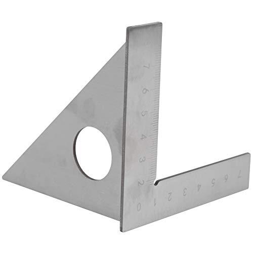 Regla de ángulo recto para carpintería, acero inoxidable 90/45 grados Cuadrado de combinación de carpintero