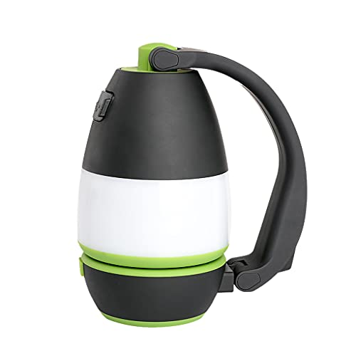 Xuebai Carga USB Lámparas de Mesa LED Tres en uno Aventura al Aire Libre Lámparas para Acampar Luces para Acampar Linternas LED para deslumbramiento Camping Verde Claro