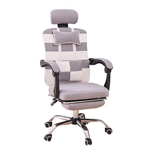 Jolly Sedia da Ufficio ergonomica Sedia reclinabile, Sedia da scrivania Sedia da Computer, Poggiatesta Regolabile Sedia Schienale e braccioli Mesh Chair (Grigio)