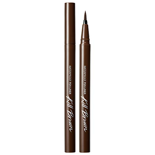 CLIO Waterproof Pen Liquid Eye Liner | Precision Tip, Long Lasting, Smudge-Resistant, High-Intensity Color | Brown (#02)
