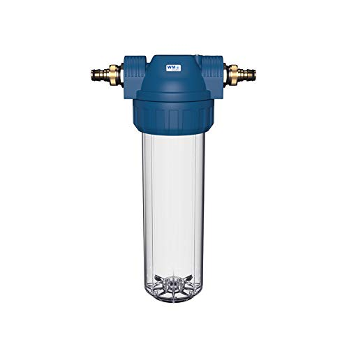 WM aquatec Wasserfilter-Gehäuse Grösse M mit verschiedenen Anschlussvarianten (Hahnstück (Gardena kompatibel))