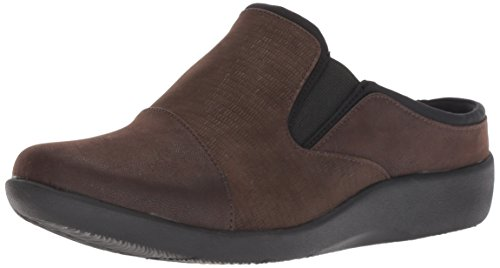 Clarks Women's Sillian Free Clog, Dark Brown Synthetic Combi, 055 M US