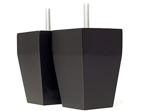Möbelfüße aus massivem Holz, 105 mm hoch, antikbraun, Ersatzbeine für Sofas, Stühle, Hocker M8 (8 mm), SOF3206