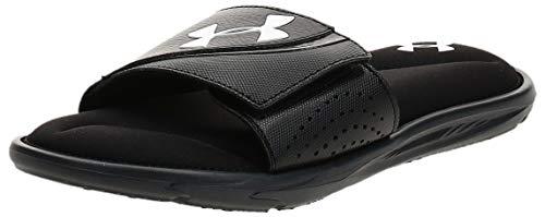 Under Armour Men's Ignite VI SL Slide Sandal, Black (003)/Black, 9 M US