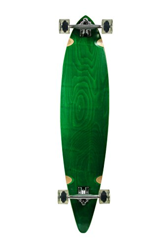 SCSK8 Natural Blank & Stained Assembled Complete Longboard Skateboard