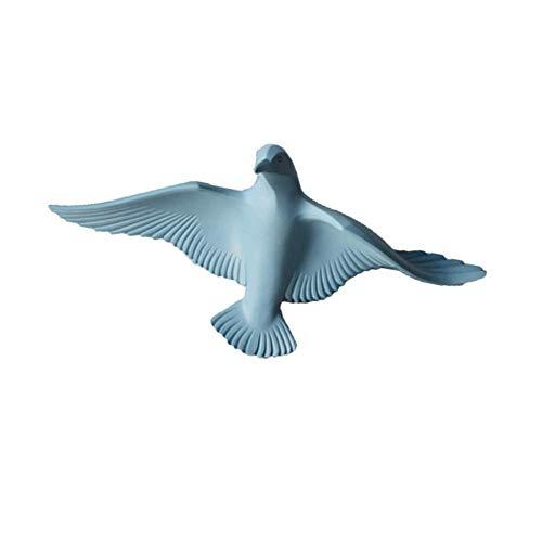 ZHENAO Estatuas Náutica Resina 3D Seagull Pájaros Escultura Artesanía Arte de la Pared Colgante Decoración Placa Murales para Café...