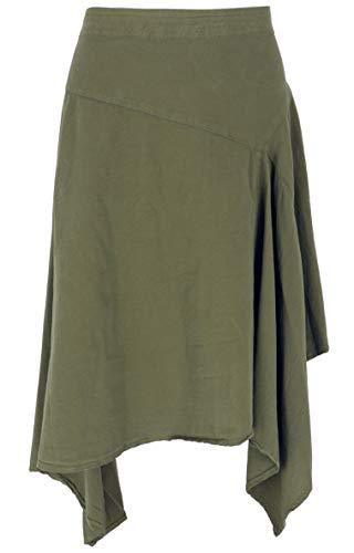 GURU SHOP Zipfelrock, Pixirock, Damen, Olive, Baumwolle, Size:L (40), Röcke/Kurz Alternative Bekleidung