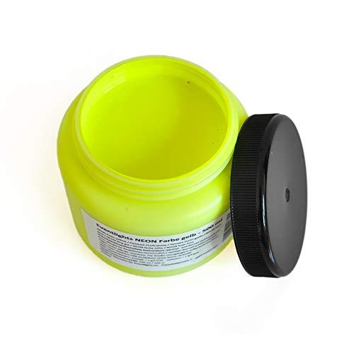NEON UV Farbe gelb - 500 ml - UV Leuchtfarbe - Wandfarbe - Bastelfarbe - Schwarzlicht