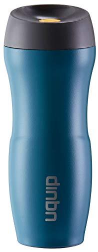 Uquip Edelstahl Thermobecher Coffy 380ml Kaffebecher to go - 100% dicht und auslaufsicher (Blau)
