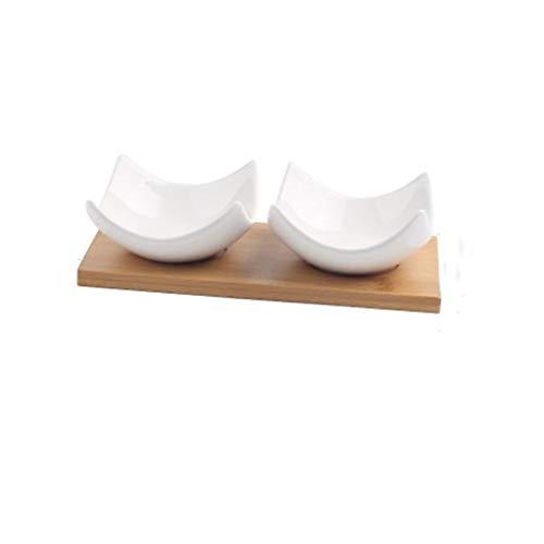 Placa de cerámica del té de la tarde Snacks Placa de la fruta del plato del caramelo condimento Vinagre Plato de frutas secas Postre plato platos cubiertos de vajilla (Color : A 2pcs)
