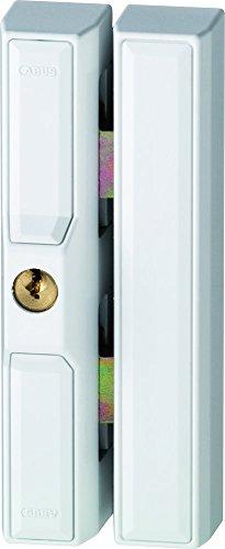 ABUS Fenster-Zusatzsicherung FTS88 - Fensterschloss mit 2 verkrallenden Stahlriegeln, verschiedenschließend - ABUS-Sicherheitslevel 9 - 35232 - Weiß