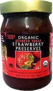 Trader Joe's Organic Strawberry Preserves Reduced Sugar 15.2 oz (Case of 3)