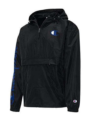 Champion Men's Packable Jacket, Black 550743, 2X Large