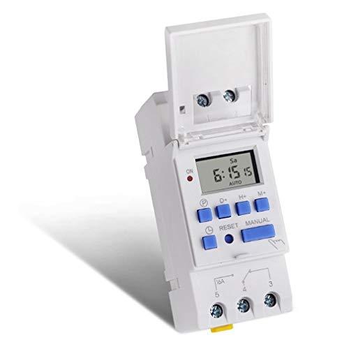 Temporizadores digitales Temporizador de CA 12 ~ 220V semanal 7 días de...