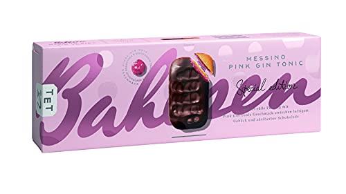 Bahlsen Messino Pink-Gin-Tonic - 1er Pack - Luftiges Gebäck mit edelherber Schokolade und Füllung mit Pink-Gin-Tonic-Geschmack - Special Edition (1 x 125g)