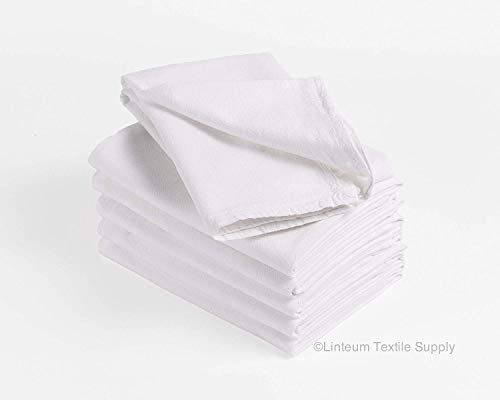 Linteum Textile Classic White Kitchen Flour Sack Towels, Commercial Grade, 100% Cotton (6-Pack, 28x29, White) – High Absorbent and Long-Lasting Material