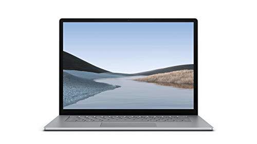 "Microsoft Surface Laptop 3 15"" (Platina), 8GB RAM, 128GB SSD, Windows 10 Home - QWERTY Tastatur"