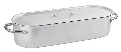 PADERNO 16939-50 Pesciera con Griglia Coperchio, 50 cm, Alluminio