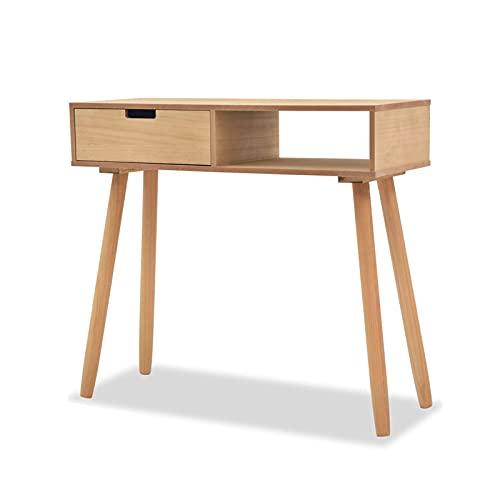 Mesa de centro pequeña 31.5'Mesa de consola marrón,mesa de sofá con estantes de cajón y apertura,tabla de vestíbulo estrecha de entrada en el corredor de la sala de estar Mesa auxiliar pequeña