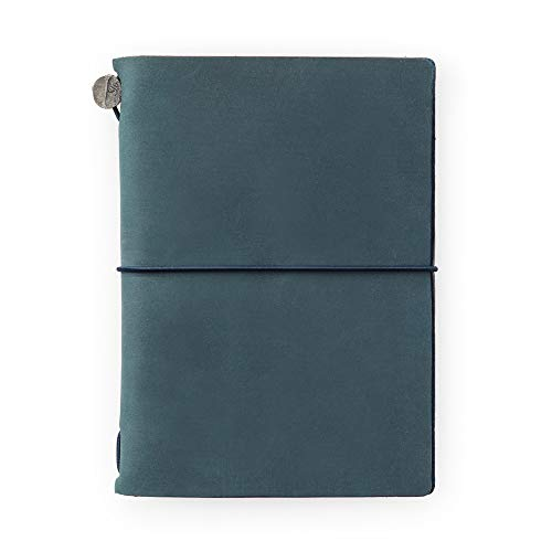 Midori Traveler's Notebook - Starter Kit, Blue (Passport Size)