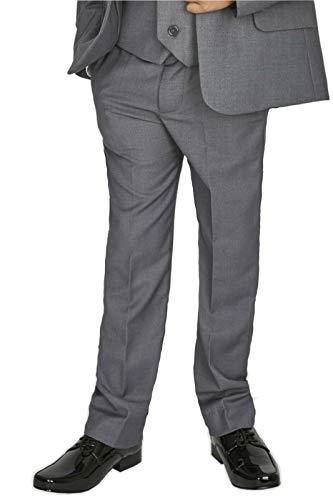 V.C. Festlicher Jungen Anzughose Kommunionhose Kinder Hochzeit Slim Fit Hose grau 134