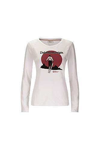 Luis Trenker W Claris Weiß, Damen Langarm-Shirt, Größe L - Farbe Weiß