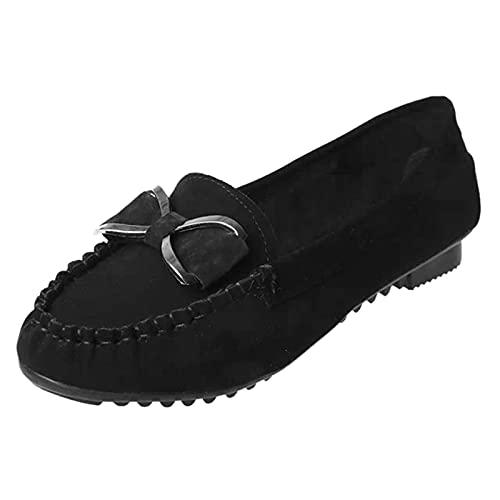 Baskets tendance à lacets pour femme - Bout rond - Respirantes - Chaussures de course à pied et de marche, Noir , 36.5 EU