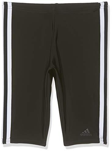 adidas Jungen Fitness 3-Streifen Badehose, Black/White, 140