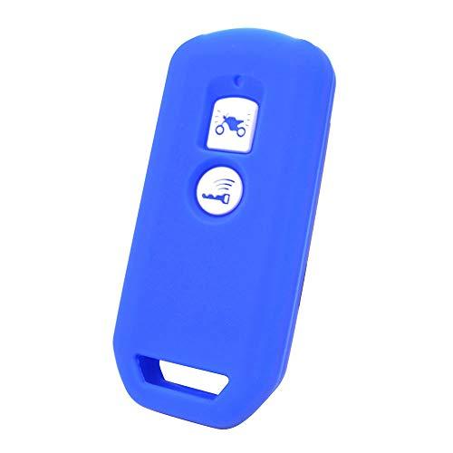 XUKEY Azul Carcasa de Silicona para Llave de PCX 150 Hybrid X-ADV SH125 Scoopy SH300 Forza 125 300 2019 Motocicleta Scooter 2 Botones Smart Key