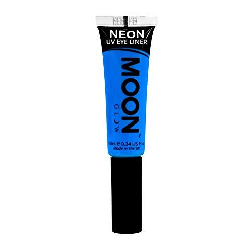 Moon Glow – Eye liner néon UV 10ml Bleu. qui produisent un effet fluo incroyable sous la lumière ultraviolette ou noire !
