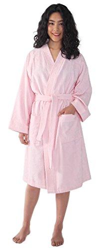 Albornoz Kimono para Mujer en Tejido de Rizo 100% algodón Fino