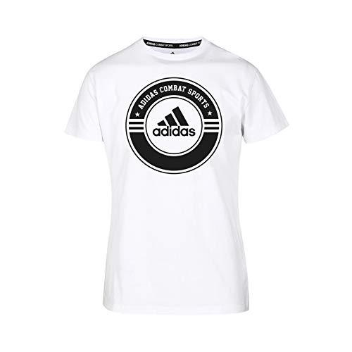 adidas Shirt Combat Sports Camiseta, Unisex Adulto, Blanco/Negro, Extra-Large