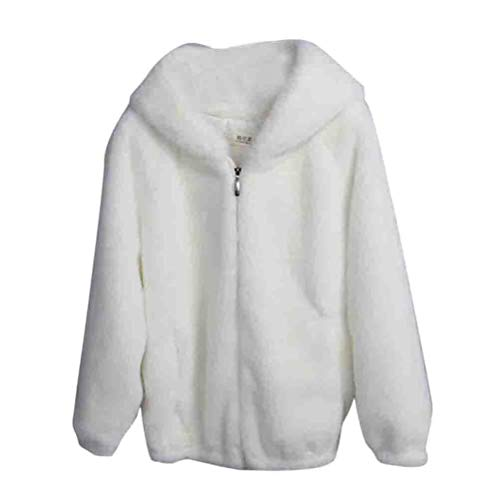 FRAUIT Zipper Faux Fur winterjas met capuchon dames warme sterke jas vaste capuchon outwear -wollen jas jas losse mantel warm zacht comfortabele mode elegante streetwear
