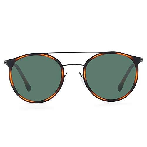 ZENOTTIC Gafas de Sol Polarizadas Redondos Super Ligero Metal Marco para Mujeres y Hombres de Doble Puente Protección UV400