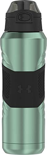 Under Armour Dominate 24 Ounce Vacuum Insulated Stainless Steel Bottle with Flip Top Lid
