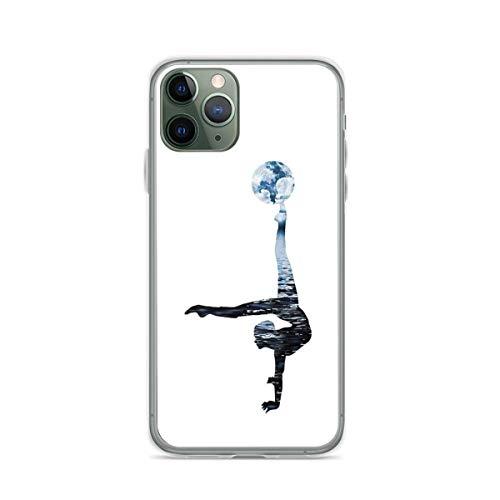 Carcasa blanda de TPU Circus World – Contortion con luna compatible con iPhone 12 12 Pro Max 11 11 Pro Max XR X/Xs SE 2020/7/8 Plus 6/6s Plus