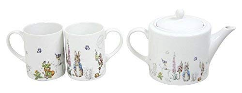 BEATRIX POTTER PETER RABBIT BLEU GRIS PORCELAINE BLANCHE Mugs & Théière