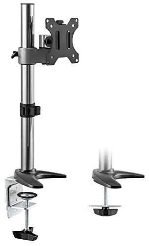 RICOO TS2411, Monitor-Ständer Tisch-Halterung, Schwenkbar, Neigbar, 13-30 Zoll (33-76cm), Schreibtisch Bildschirm-Arm Stand-Fuß, VESA 75x75-100x100