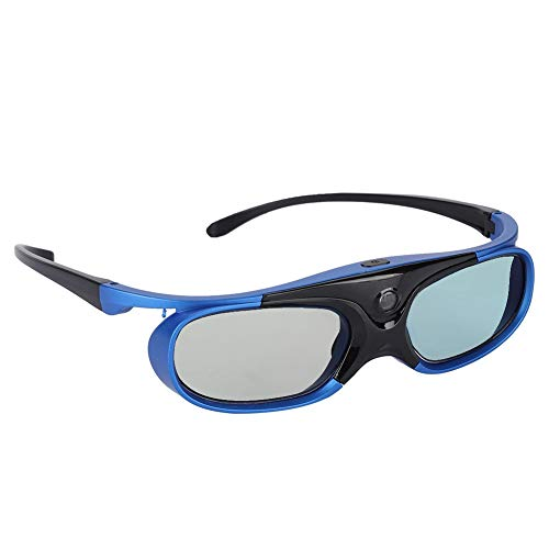Simlugn 【𝐁𝐥𝐚𝐜𝐤 𝐅𝐫𝐢𝐝𝐚𝒚】 3D-Brille, Universal Active Shutter Typ DLP Link 3D-Projektor-Brille HD-Objektiv Für kurzsichtige Menschen Anwendbare Modelle für Nüsse/Sony/BenQ/Epson/Panasonic