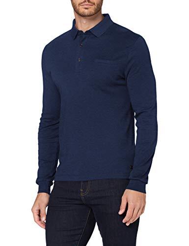 Pierre Cardin Longsleeve Interlock Uni Sudadera, Azul, 5XL para Hombre