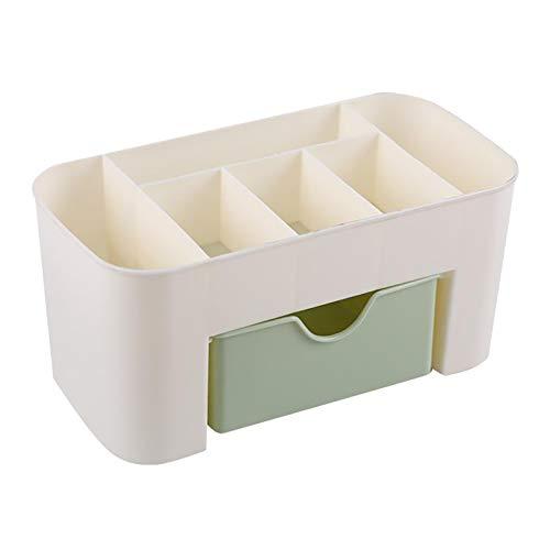 Generic Kosmetische Lagerung Box 6 Fächer Veranstalter Make-Up Behälter für Frauen Mädchen Geschenk - Grün