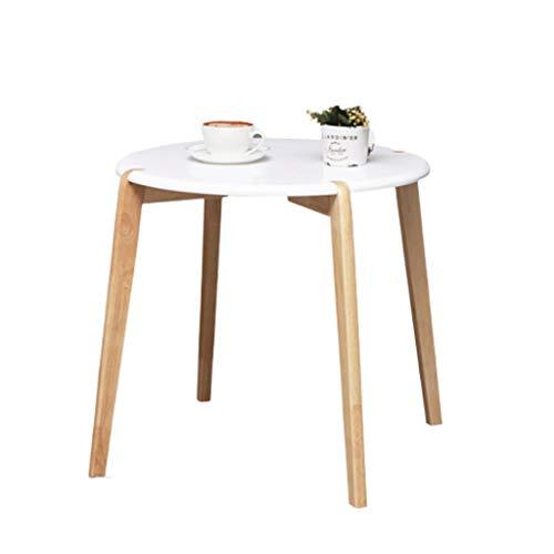 LICHUAN Mesa de centro simple para sala de estar, mesa de café, sofá nórdico, mesa auxiliar para sala de estar, oficina, mesita de noche, sala de estar (tamaño redondo)