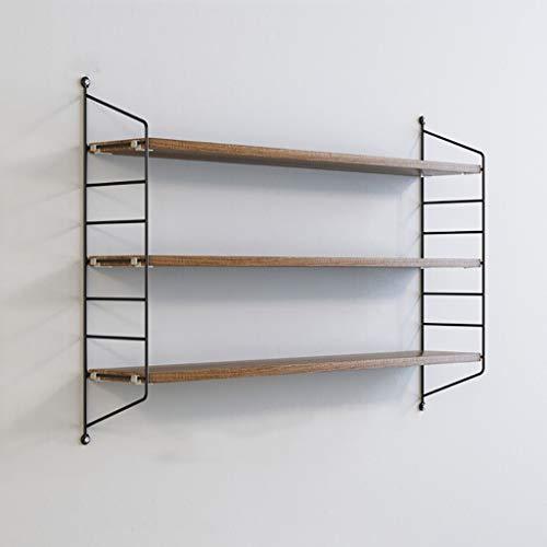 WWZWJ Zwevende plank IJzeren Wandplank Nordic Style 3-laags Wandmontage Boekenkast Woonkamer TV Wand/slaapkamer Decoratie