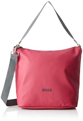 BREE Collection Unisex-Erwachsene Punch 702, Cr. Sh. M S19 Umhängetasche, Pink (Jazzy), 12x30.5x30 cm