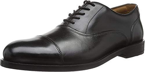 Clarks Coling Boss, Scarpe Stringate Basse Brogue Uomo, Nero (Black Leather-), 41.5 EU