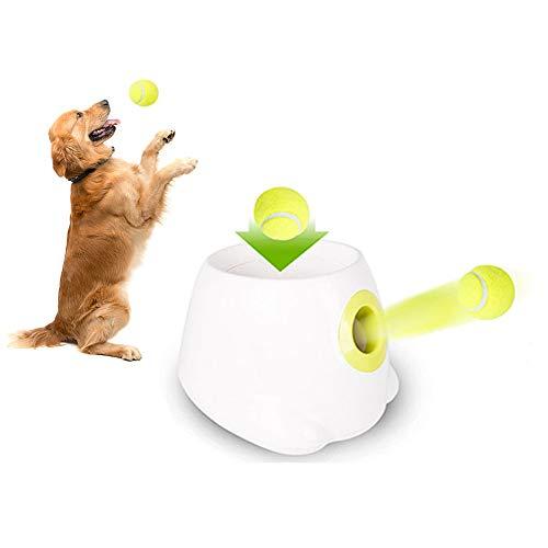 Lanzador automático de bolas para perros, todo para patas de perro interactivo, lanzador de bolas automático para perros grandes, juguete para mascotas, juego de lanzar, 3 pelotas de tenis incluidas
