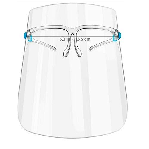 SHATCHI - Kit di protezione protezione per viso e viso anti-appannamento, con visiere di sicurezza (coppia di occhiali e 3 scudi) in polietilene espanso